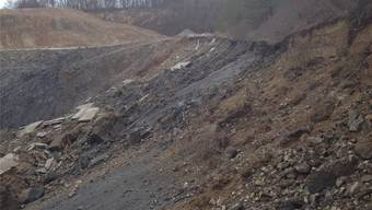 Rund 15000 Kubikmeter Fels rutschten bei dem Felssturz ab. az