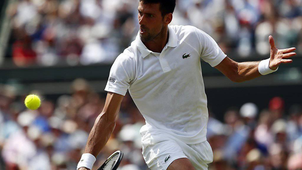 Weiterhin ohne Satzverlust in Wimbledon: Novak Djokovic