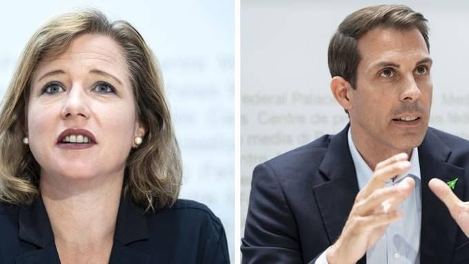 FDP-Nationalrätin Christa Markwalder ist für das Rahmenabkommen, FDP-Ständerat Thierry Burkart dagegen.