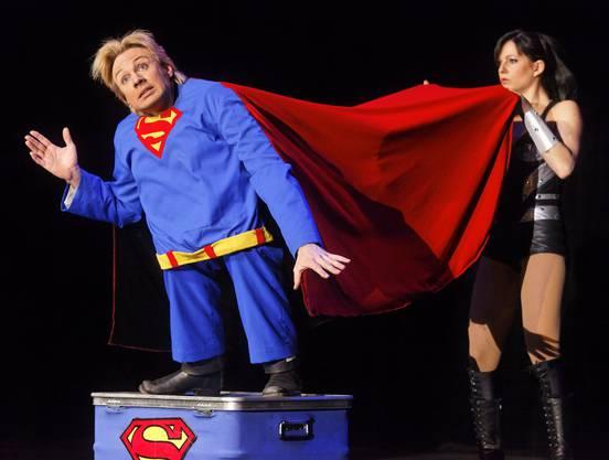 Peter Marvey trat als Mini-Superman auf