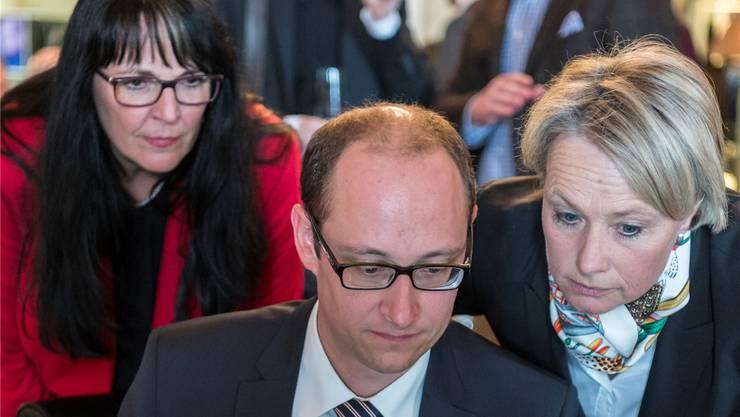 Kein Erfolg an der Urne: EVP-Präsidentin Marianne Streiff (l.) mit ihren CVP-Kollegen Martin Candinas und Elisabeth Schneider-Schneiter.ALESSANDRO DELLA VALLE/Keystone