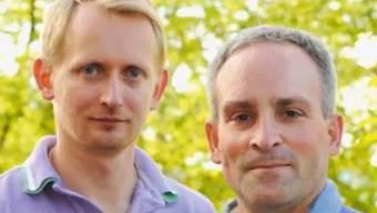 Markus Hungerbühler (r.) und sein Partner posierten bereits gemeinsam auf einem Wahlplakat.