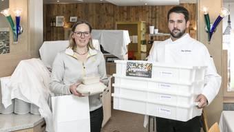 Manuela Schmid und Peter Schneider, Geschwister und Inhaber des Gasthofs Schützen in Aarau.