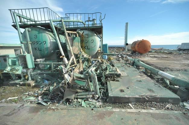 ...doch die Regierung will mit dieser Führung für die Journalisten zeigen: Fortschritt in Fukushima!