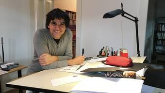 Patrick Chappatte in seinem Büro in Genf.