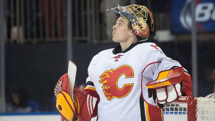 Schwierige Phase: Calgary-Goalie Jonas Hiller muss wegen einer Verletzung mindestens eine Woche aussetzen