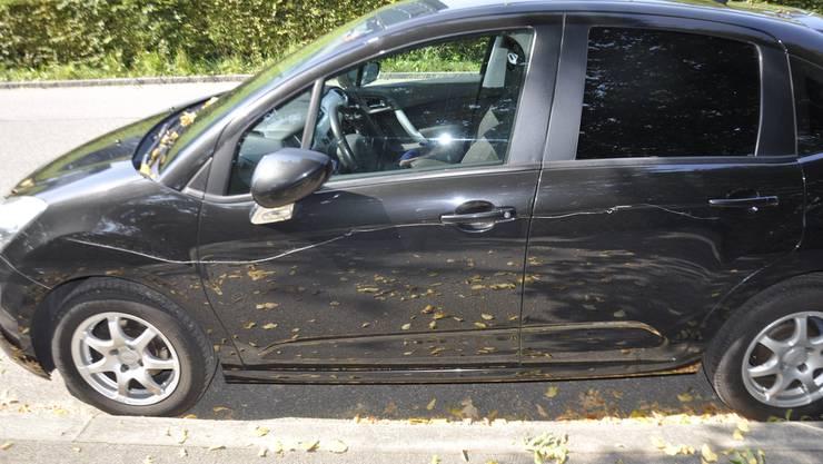 Zwei Männer haben insgesamt 11 Autos am Amthausquai in Trimbach beschädigt.