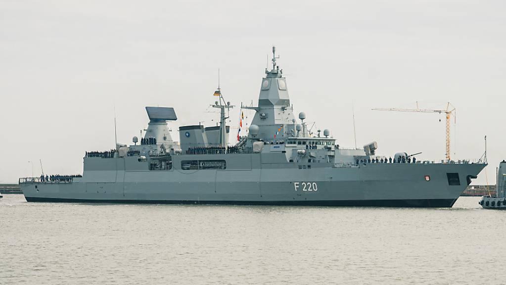 Die Fregatte «Hamburg» kehrt nach dem Einsatz im Mittelmeer wieder in den Heimathafen zum Marinestützpunkt Wilhelmshaven zurück.