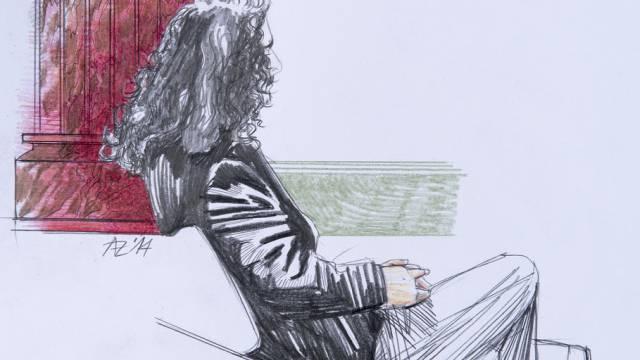 Gerichtszeichnung des Verurteilten vor dem Berner Gericht (Archiv)