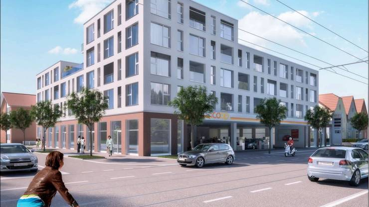 ...bald einem bis zu fünfgeschossigen Neubau mit Wohnungen Platz.