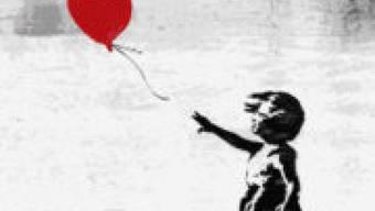 Banksys Schablonen-Sprayerei mit dem Ballon-Mädchen ist laut einer Umfrage das beliebteste Kunstwerk der Briten. (Pressebild)