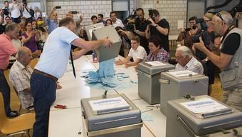 Um diesen Urnengang geht es: Im Juni 2017 entschieden sich Moutiers Stimmbürger knapp für einen Wechsel zum Kanton Jura.