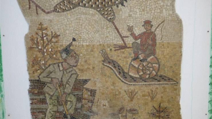 Das Mosaik von Walter Eglin «Der Schatzgräber von der Muttenzer Hard».