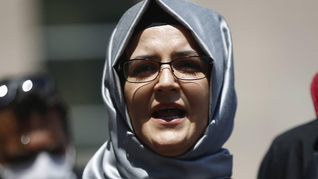 ARCHIV - Hatice Cengiz, die Verlobte des getöteten saudischen Journalisten Jamal Khashoggi. Foto: Emrah Gurel/AP/dpa