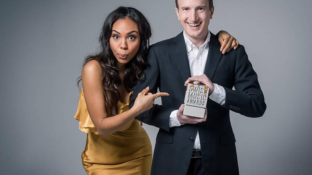 Frischer Wind an den Swiss Music Awards: Alexandra Maurer und Stefan Büsser sind die neuen Moderatoren der Musikpreisverleihung. (Pressebild)