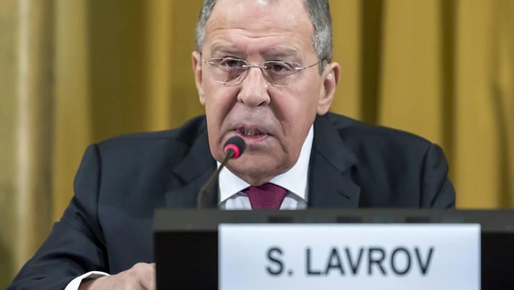 Für den russischen Aussenminister Lawrow haben die syrischen Kurden keine Alternative zu einer Kooperation mit der Regierung in Damaskus. (Archivbild)