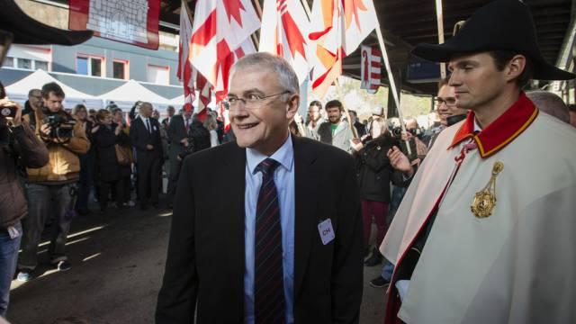 Ständeratspräsident Claude Hêche in Moutier