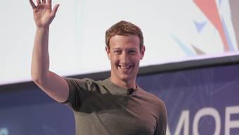 Facebook-Chef Mark Zuckerberg bei seinem Auftritt in Barcelona.