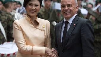 Ueli Maurer und Yingluck Shinawatra am Dienstag in Bern