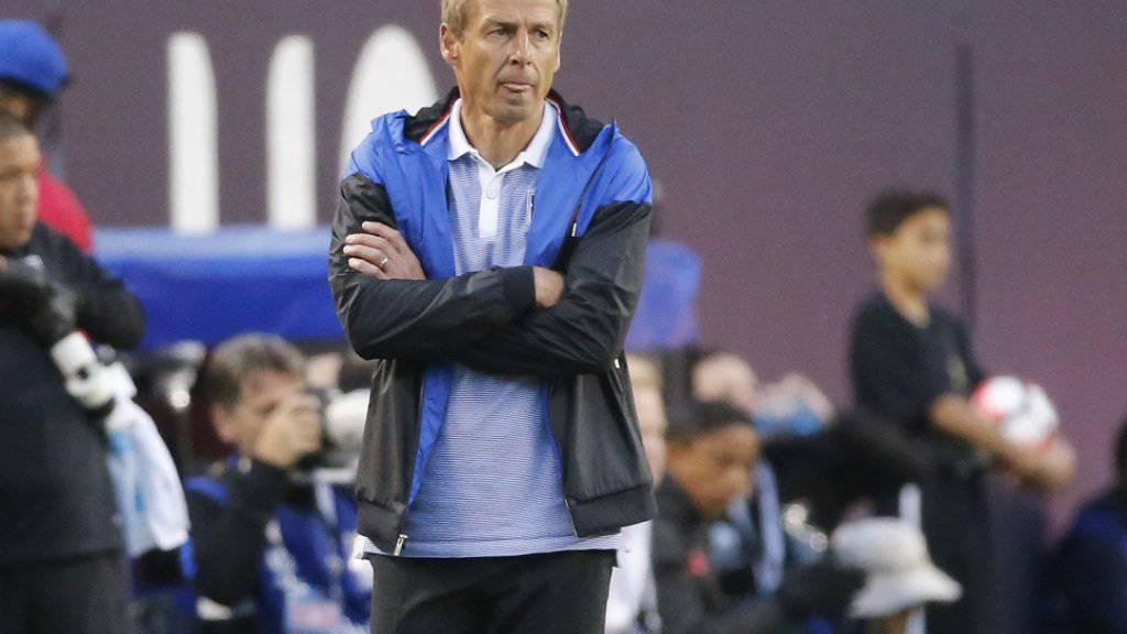 Jürgen Klinsmann mit skeptischem Blick