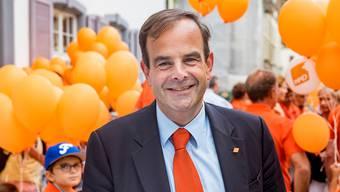 Hatte am Abstimmungssonntag gut lachen: CVP-Parteipräsident Gerhard Pfister. (Archivbild)