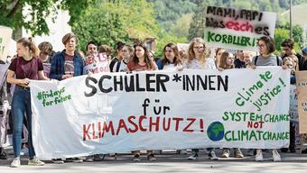 Im Frühling streikten Schülerinnen und Schüler in Baden für das Klima.