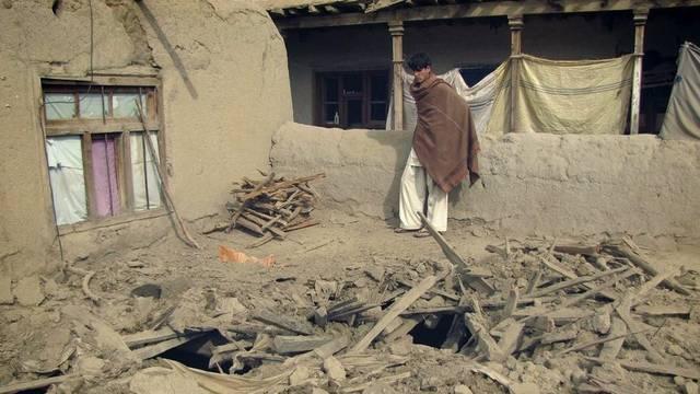 Afghanisches Haus nach Nato-Luftangriff