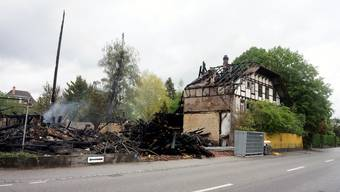 Brand des leerstehenden Bauernhauses in Gerlafingen: So sieht die «Wigger-Hütte» nach dem Brand aus.