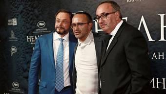 Mischt auch in der Filmbranche mit: Gleb Fetissow (links) 2017 bei der Premiere des von ihm produzierten Dramas «Loveless» in Cannes.