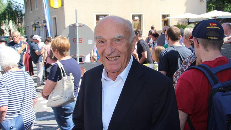 Im Appenzell aufgewachsen, im Herzen aber auch Böjuer: Alt-Bundesrat Hans-Rudolf Merz.