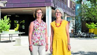 Heute ist ihr letzter Arbeitstag: Nach über 30 Jahren verlassen Heidi Dällenbach (links) und Trudi Müller Blau die Schule Urdorf.