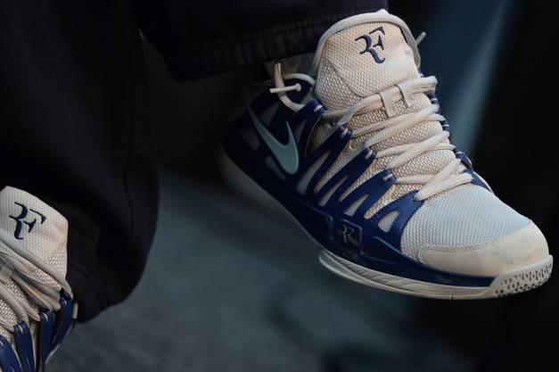 Federer spielt weiterhin in Nike-Schuhen, aber ohne Vertrag.
