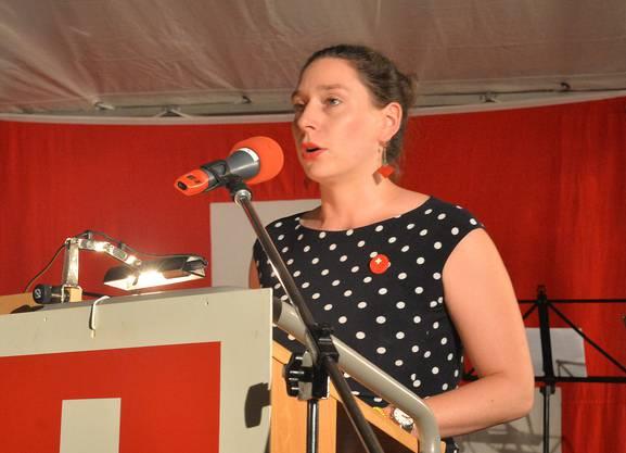 Festrednerin Laura Gantenbein.