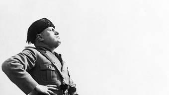 Der historische Diktator Benito Mussolini im April 1936 in Aprilia, nordwestlich von Rom.