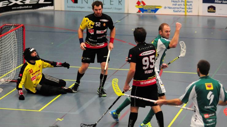 Jubel bei Wiler-Ersigen: Kevin Steffen (2.v.r.) trifft zum 6:1 gegen Winterthur.