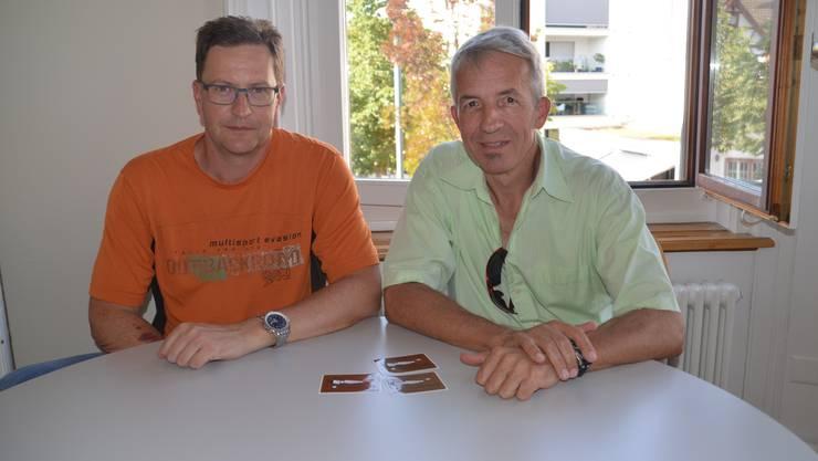 Freuen sich auf den Jubiläums-Flugtag: OK-Präsident Christian Ewald (links) und der PR-Verantwortliche Wolfgang Auth.