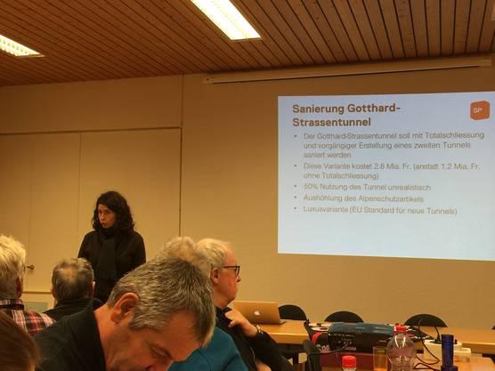 … sprach unter anderem zur Sanierung des Gotthard-Strassentunnels