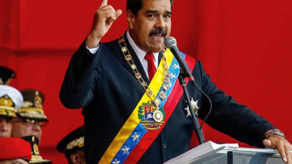 """""""Keine Sekunde nachlassen"""": Venezuelas Präsident Nicolás Maduro. (Archivbild)"""