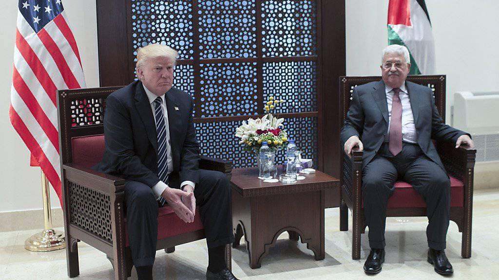 Zweites Treffen zwischen Trump und Abbas innerhalb weniger Wochen: Trump sagte in Bethlehem wenig über seine Vorstellungen über eine Lösung im Nahostkonflikt.