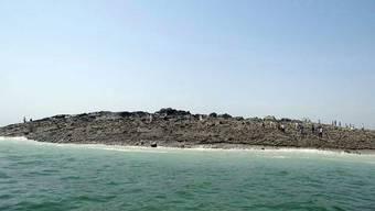 Neue Insel vor der Küste Pakistans.