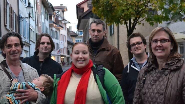 Ziel erreicht: Angehörige der Arbeitsgruppe Jugendkonzept mit Stadträtin Monika Briner (rechts).Archiv/SL