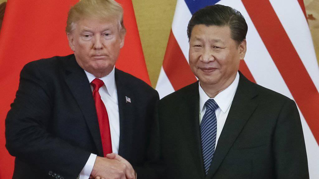 US-Präsident Donald Trump und der chinesische Präsident Xi Jinping hatten unlängst überraschend den Dialog über den Handelsstreit aufgenommen und nun gibt es Bewegung bei den Unterhändlern. (Archivbild)