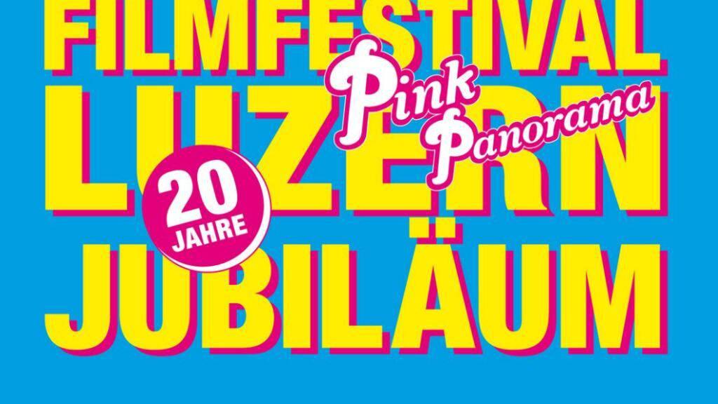 Das Logo der 20. Ausgabe des Filmfestivals Pink-Panorma, zu dem die Organisatoren eine positive Bilanz ziehen.