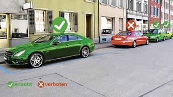 Die Regionalpolizei Zurzibiet startet Informationskampagne gegen das Linksparkieren.