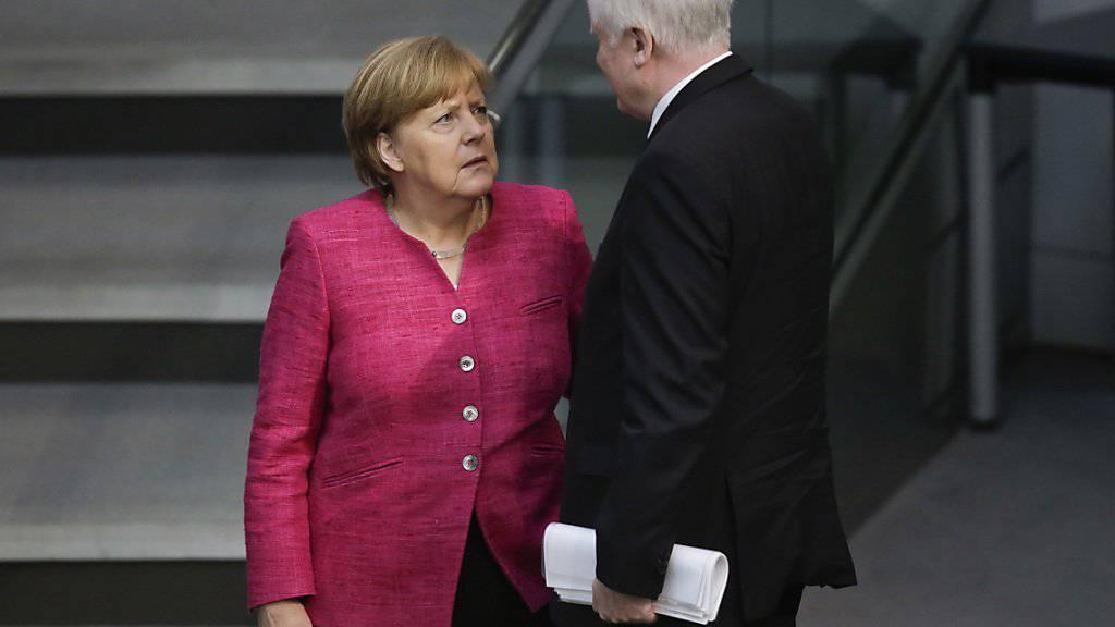 Der deutsche Innenminister Horst Seehofer will die deutsche Kanzlerin Angela Merkel trotz erheblicher Differenzen bei der Asylpolitik Deutschlands nicht stürzen. (Archivbild)