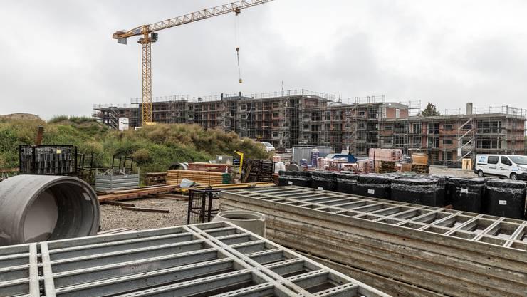Die Gebäude der Überbauung Schöngrün wachsen in die Höhe. Hier ein Augenschein im August 2019.