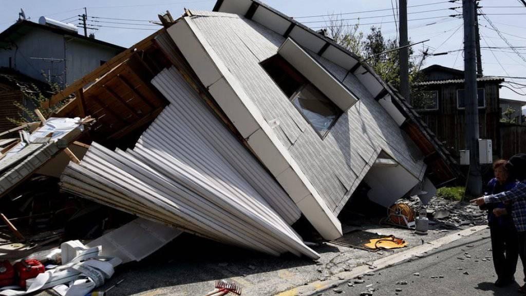 Die Erdbeben in Kumamoto in Japan haben 2016 zu den weltweit höchsten Schäden geführt. (Archivbild)