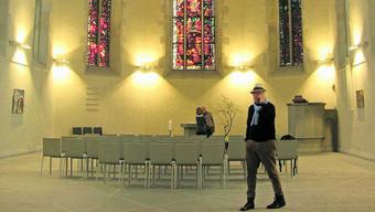 Die Wasserkirche dient aktuell unter anderem als Ausstellungsraum für Gemälde von Ernst Sieber.