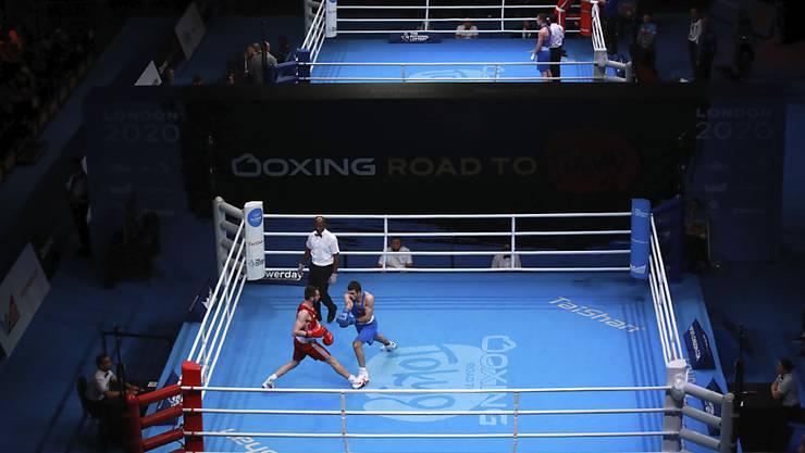 Ein Blick auf die Box-Arena in London während des abgebrochenen Olympia-Qualifikationsturniers vor zweieinhalb Wochen