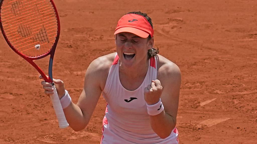 Augen zu und durch? Tamara Zidansek feiert am French Open ihren ersten Halbfinal-Einzug mit geschlossenen Augen